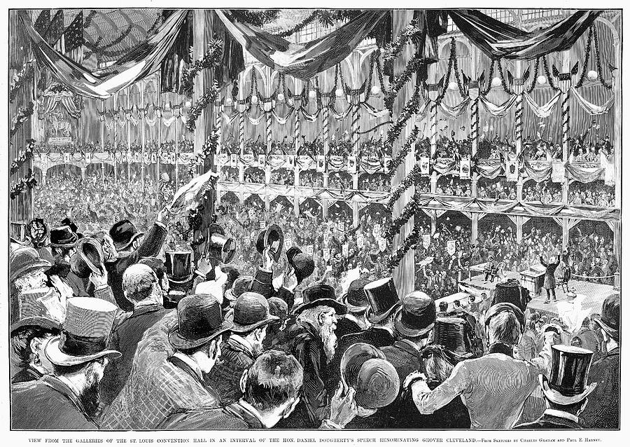 1888 Painting - Democratic Convention by Granger