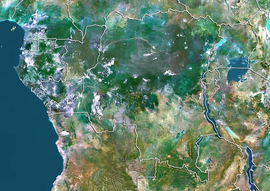 21st Century Photograph - Democratic Republic Of The Congo by Planetobserver/science Photo Library