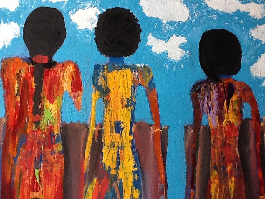 Morocco Painting - Demoiselles De Marrakesh by Omar Hafidi