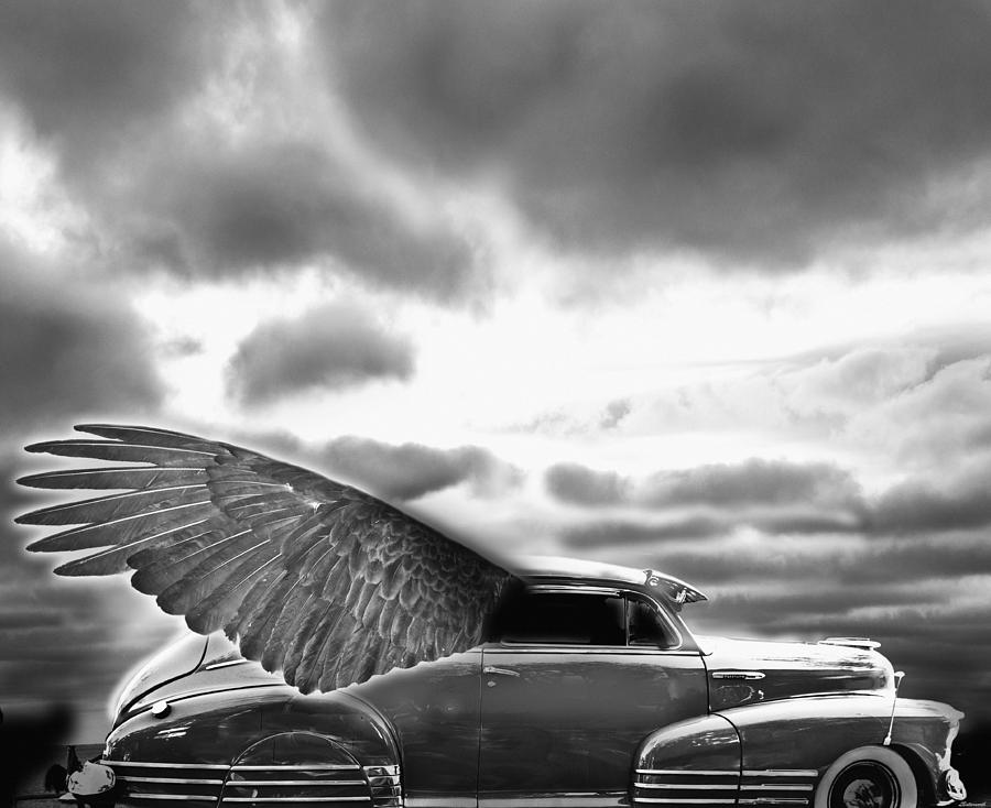 Surrealism Digital Art - Demon Chevrolet by Larry Butterworth