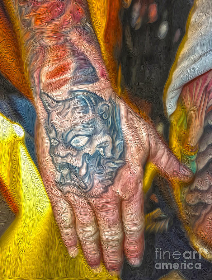 Tattoo Painting - Demon Tattoo by Gregory Dyer