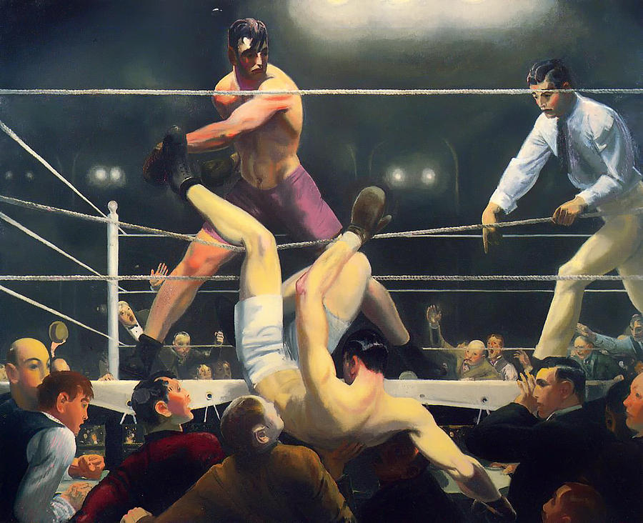 Jack Dempsey Painting - Dempsey And Firpo by Mountain Dreams