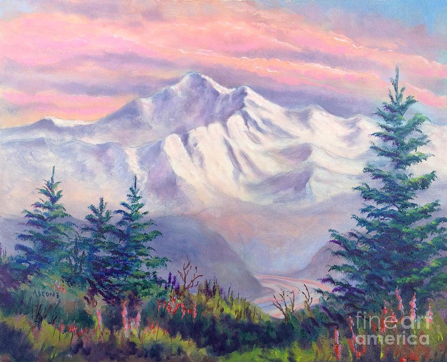 Denali Painting - Denali Alpenglow by Teresa Ascone