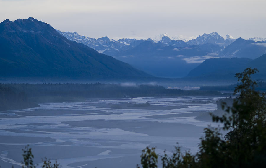 Anchorage Photograph - Denali Side Mountain Ranges by Tara Lynn