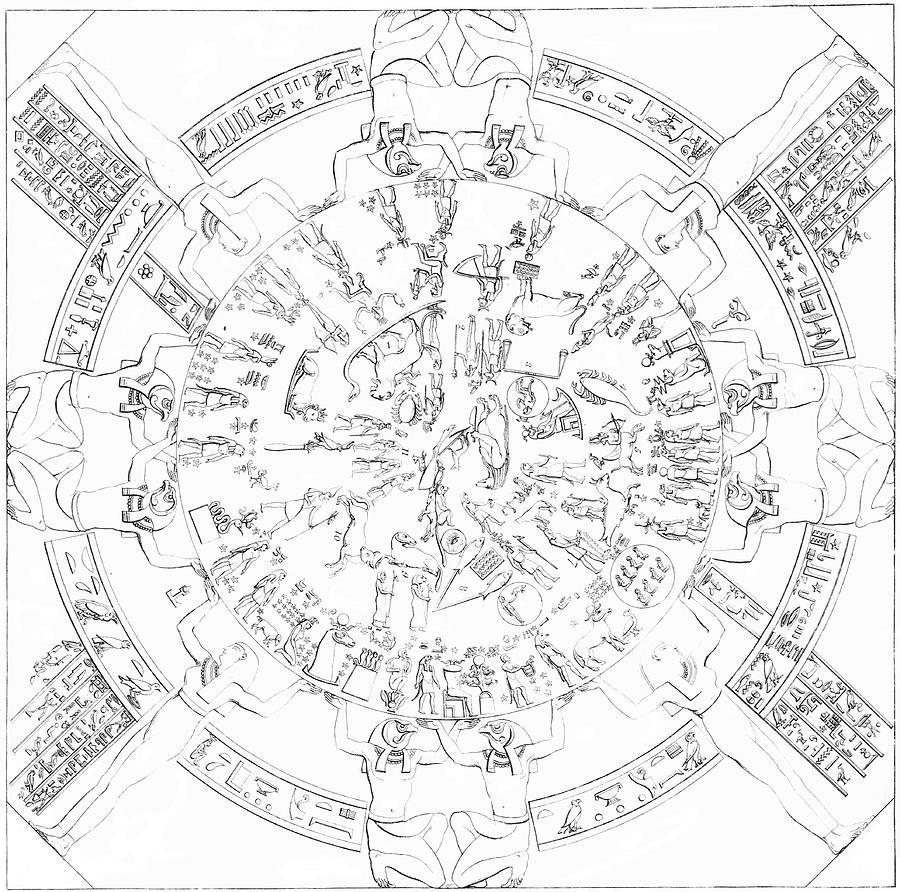 Dendera Zodiac Photograph - Dendera Zodiac by Royal Astronomical Society/science Photo Library