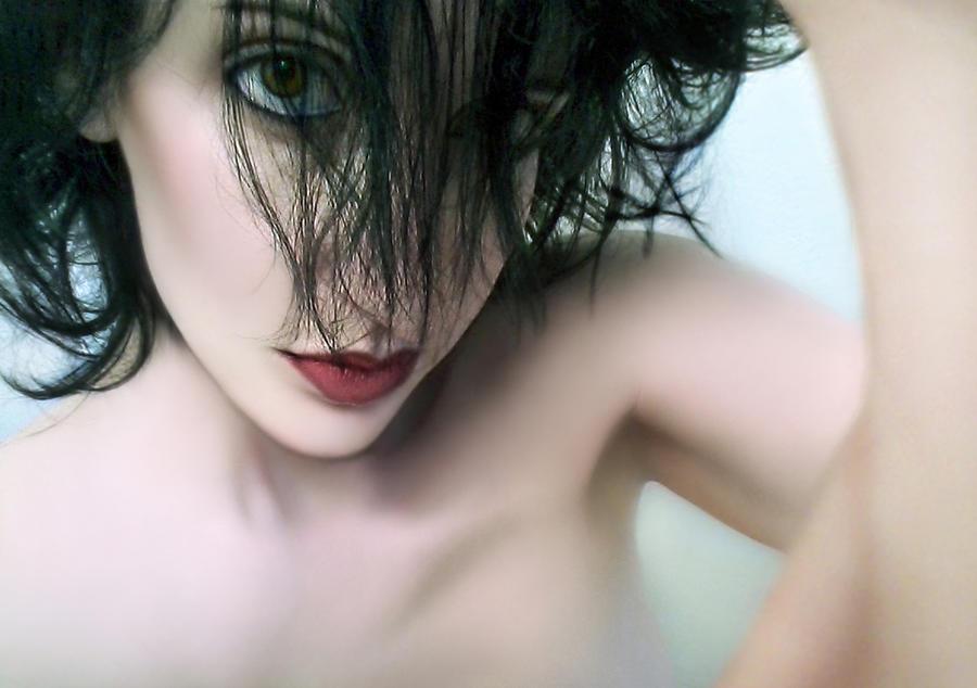 Denial Photograph - Denials Downward Spiral - Self Portrait by Jaeda DeWalt