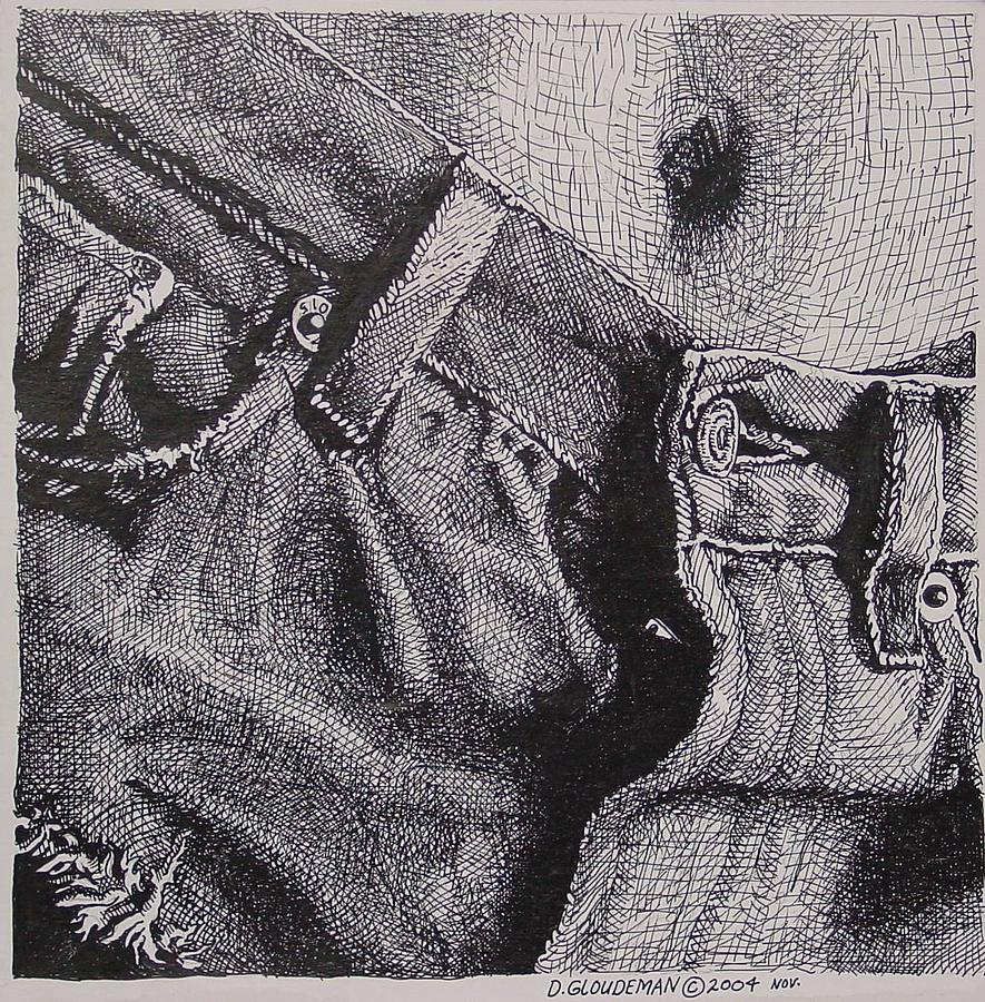 Figurative Drawing - Denim by Denis Gloudeman
