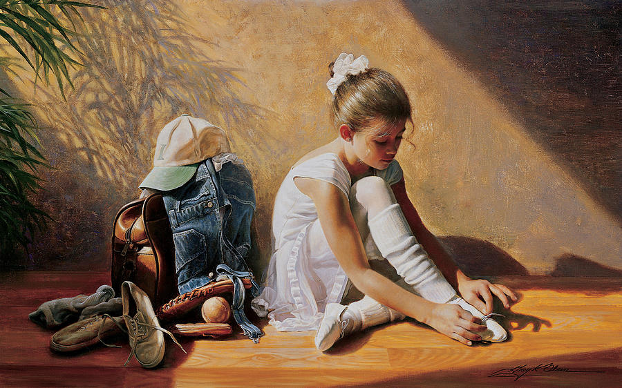 Dancer Painting - Denim to Lace by Greg Olsen