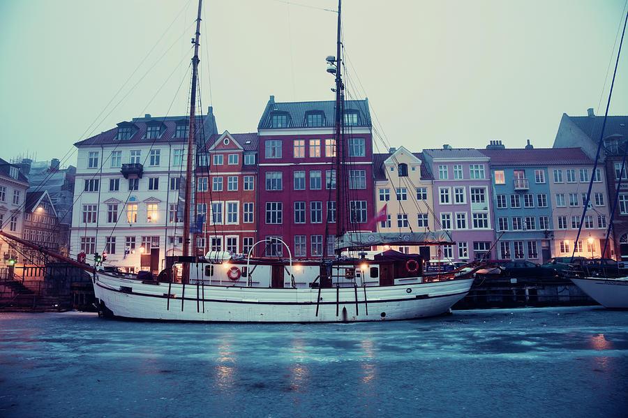 Denmark, Copenhagen, Nyhavn District On Photograph by Henryk Sadura