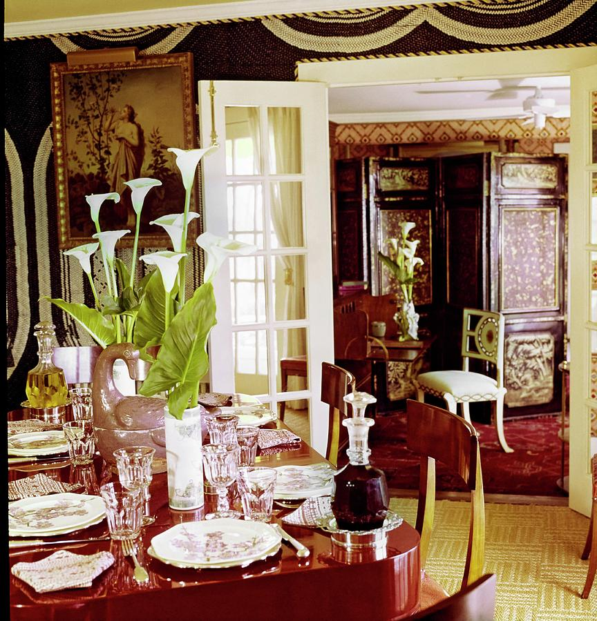 Denning And Fourcades Dining Room Photograph by Horst P. Horst