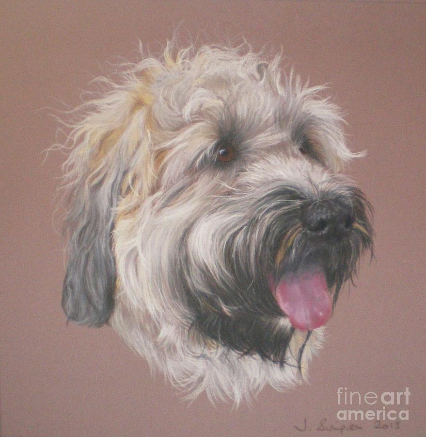 Dog Pastel - Dennis - Wheaten Terrier by Joanne Simpson