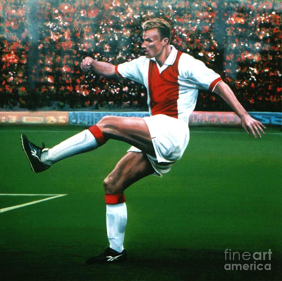 Dennis Bergkamp Painting - Dennis Bergkamp Ajax by Paul Meijering