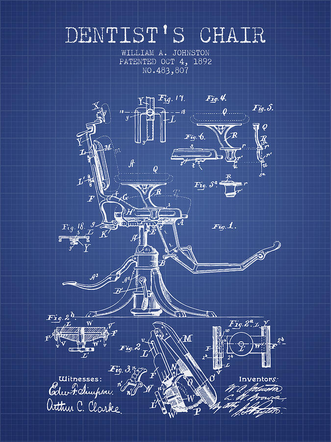 Dentist chair patent from 1892 blueprint digital art by aged pixel dentist digital art dentist chair patent from 1892 blueprint by aged pixel malvernweather