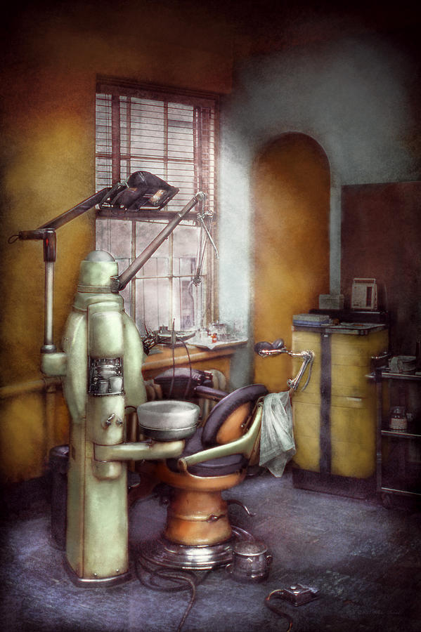 Doctor Photograph - Dentist - Dental Office Circa 1940s by Mike Savad
