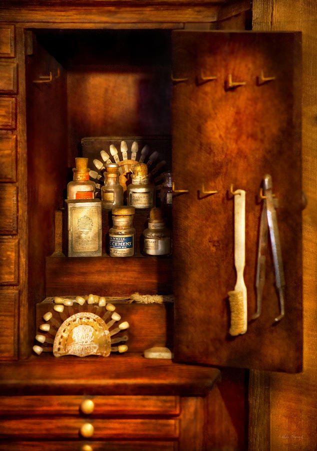 Dentist Photograph - Dentist - The Dental Cabinet by Mike Savad