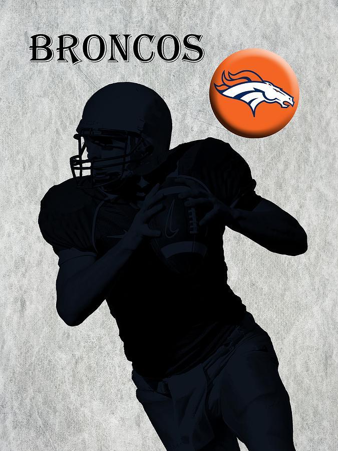 Broncos Digital Art - Denver Broncos Football by David Dehner