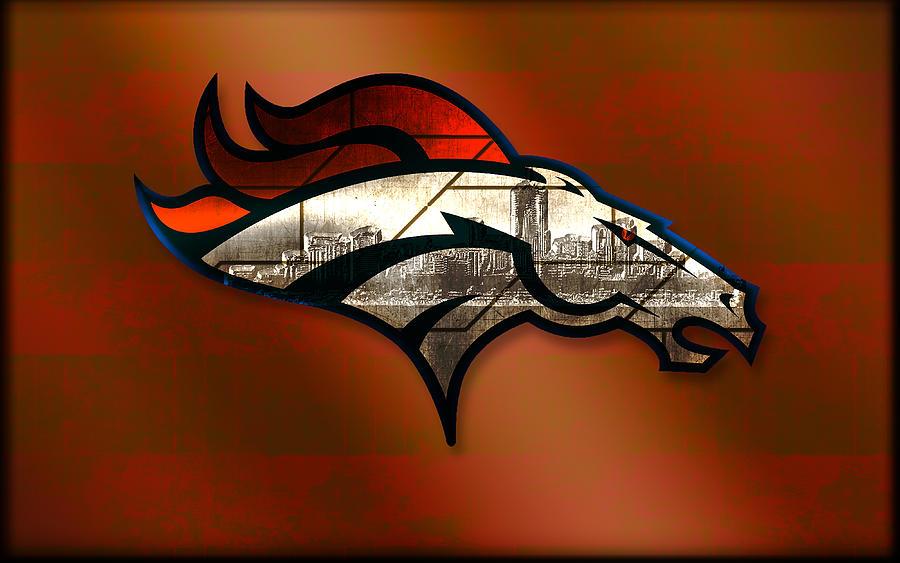 Denver Broncos Wall Decor denver broncos with skyline 2 digital artbecca buecher