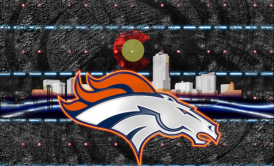 Denver Broncos Digital Art