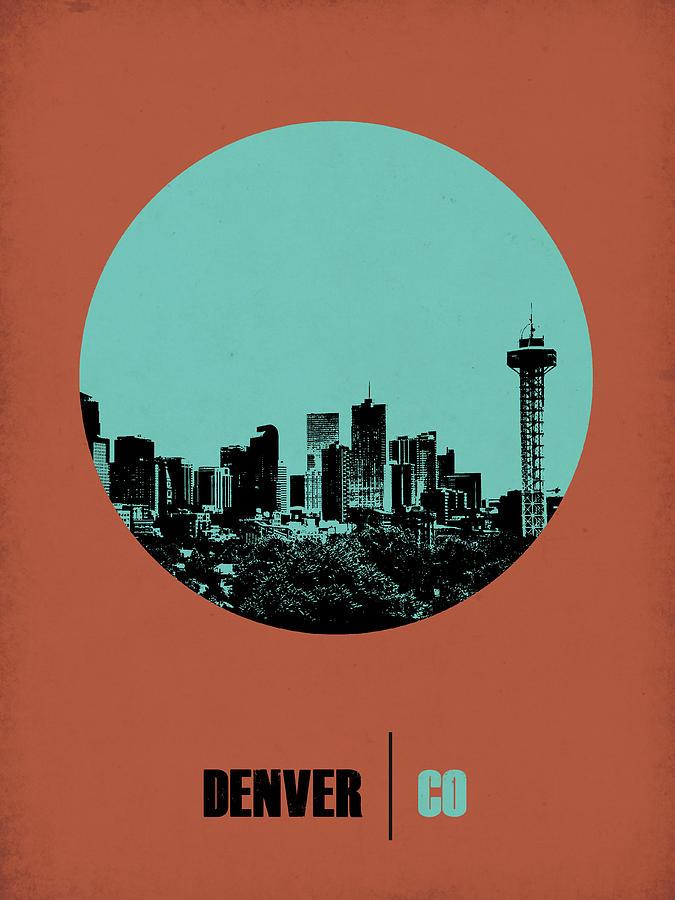 Denver Digital Art - Denver Circle Poster 1 by Naxart Studio