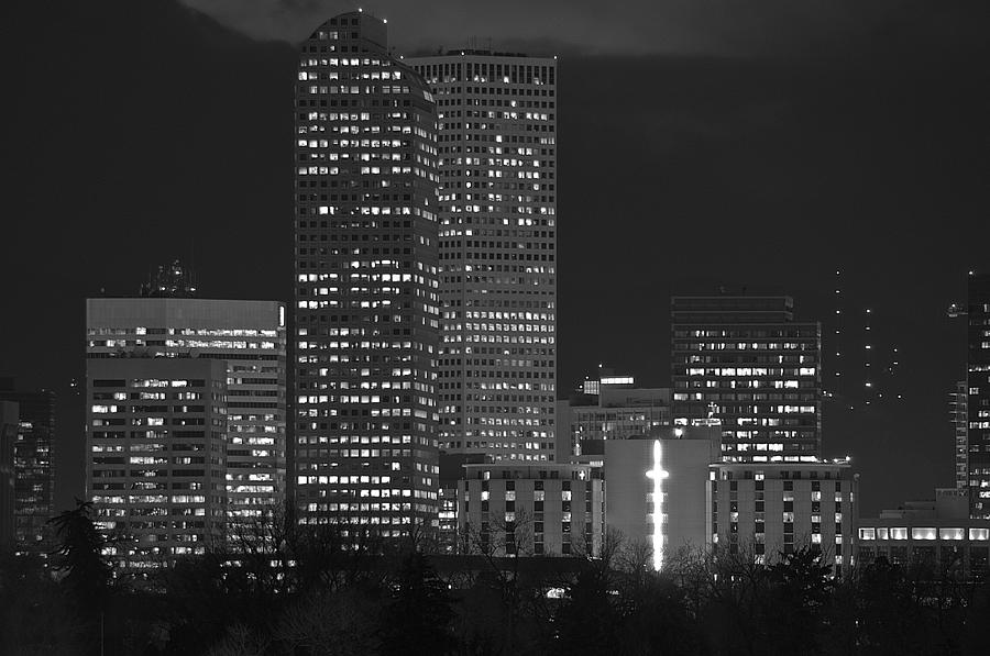 Skyline Photograph - Denver Downtown  by Eric Rundle