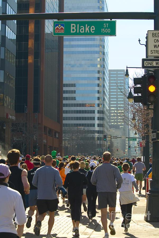 Denver Runners Photograph