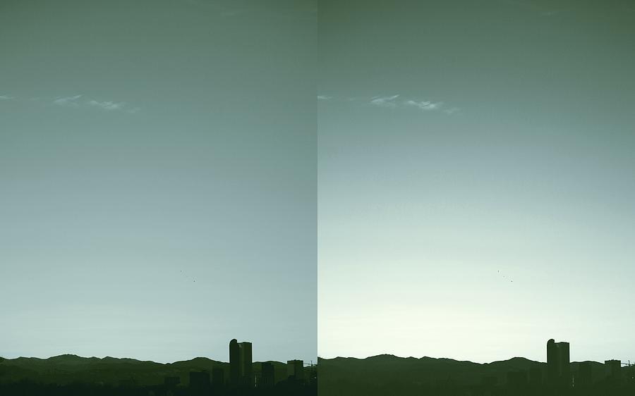 Denver Photograph - Denver Silhouette by Augustina Trejo