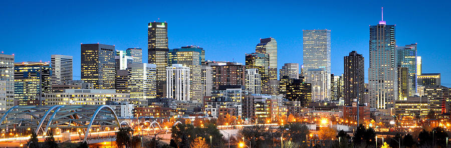 Denver Photograph - Denver Twilight by Kevin Munro