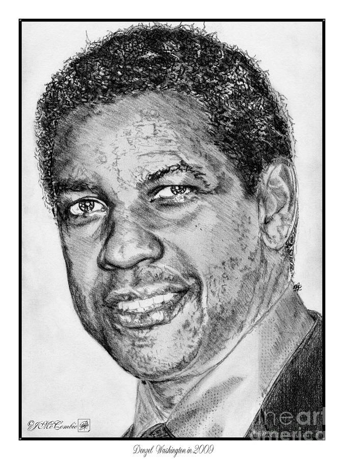 Denzel Washington Drawing - Denzel Washington In 2009 by J McCombie