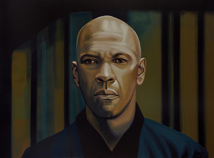 Denzel Washington Painting - Denzel Washington In The Equalizer Painting by Paul Meijering