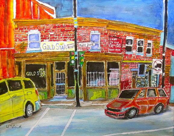 Minivans Painting - Depanneur Courcelle by Michael Litvack