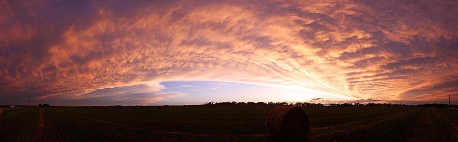 Sunset Photograph - Departing Storm by Chris Allington