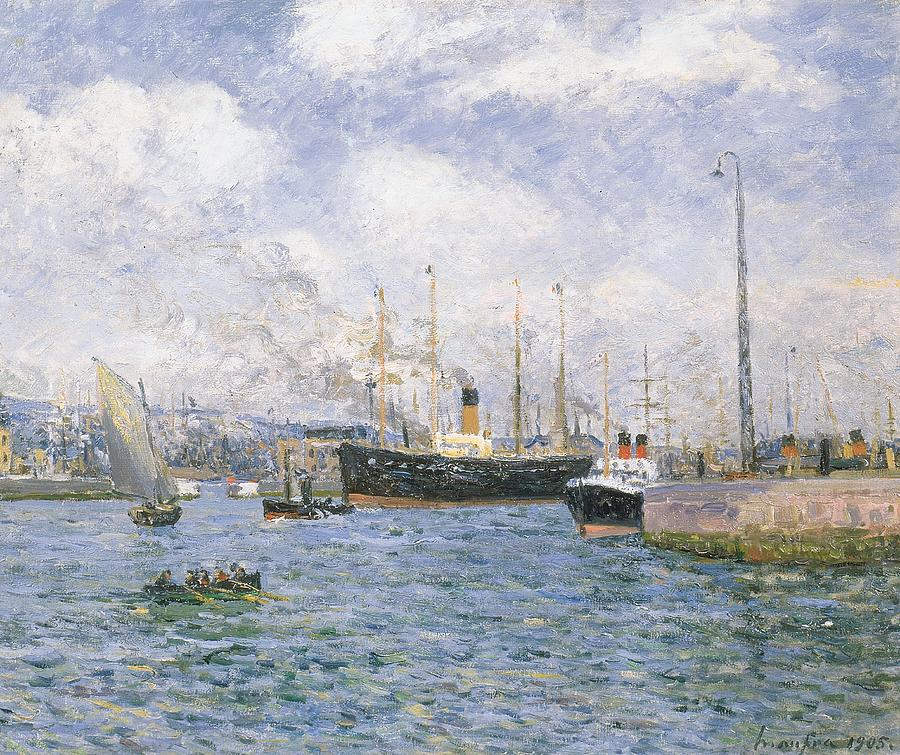 Boat Painting - Departure From Havre by Maxime Emile Louis Maufra