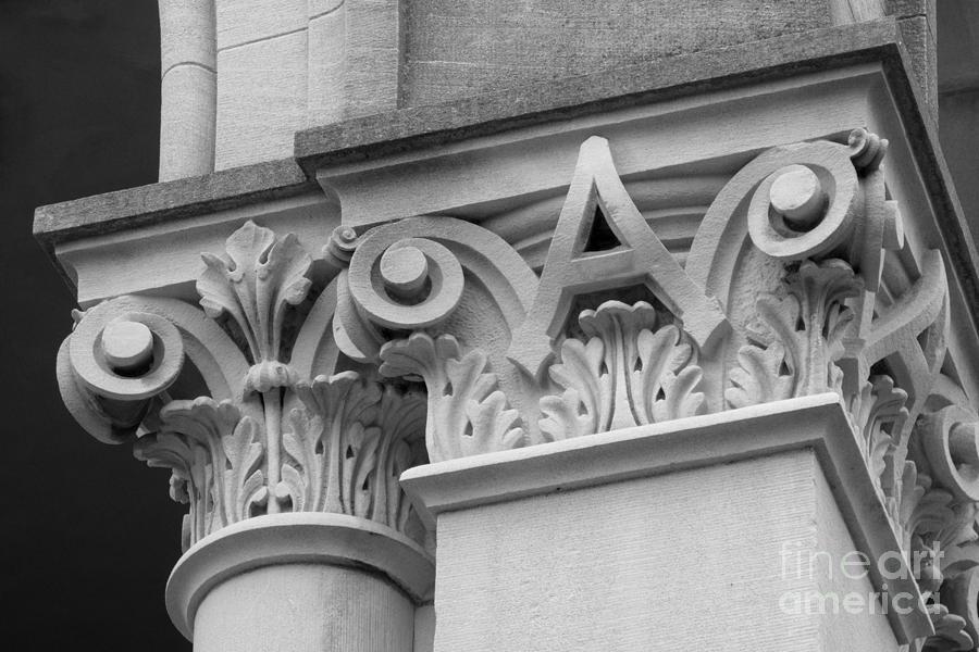 Depauw University Photograph - Depauw University East College Detail by University Icons