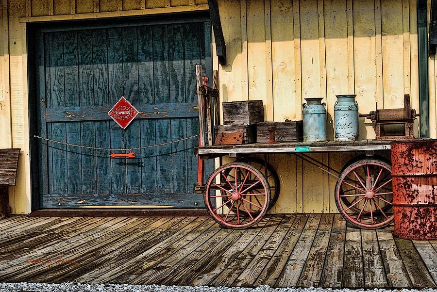 Kenny Francis Photograph - Depot Wagon by Kenny Francis