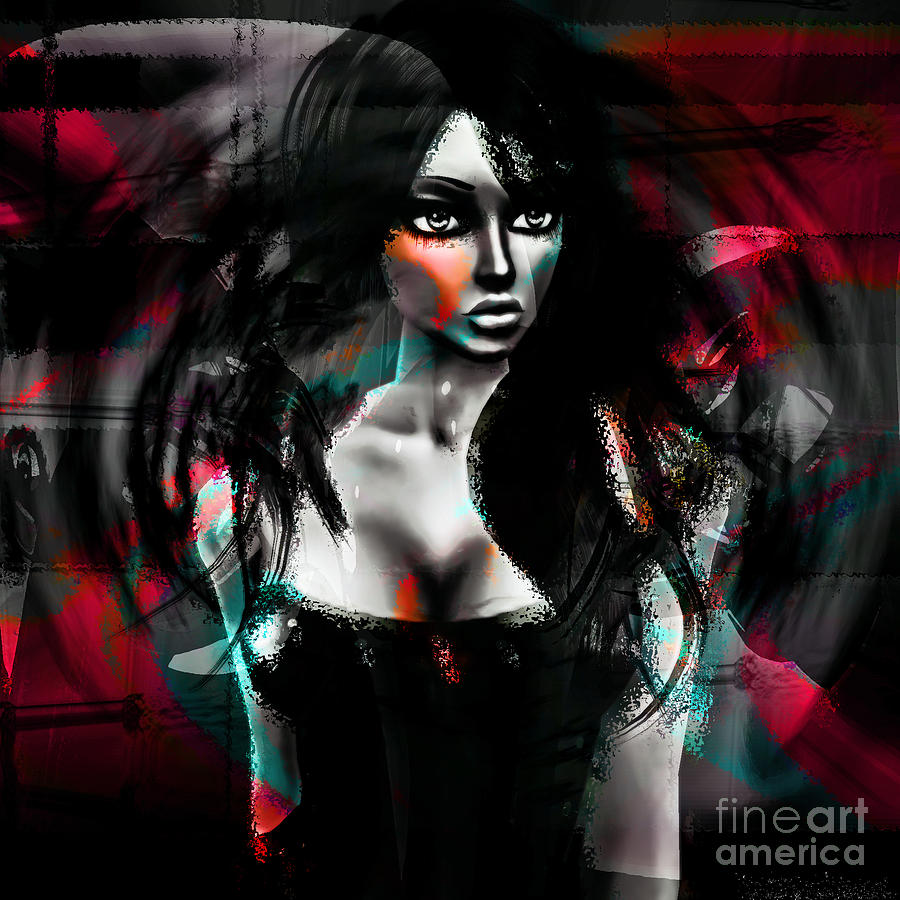 Abstract Digital Art - Depraved Of Dreams by Ashantaey Sunny-Fay