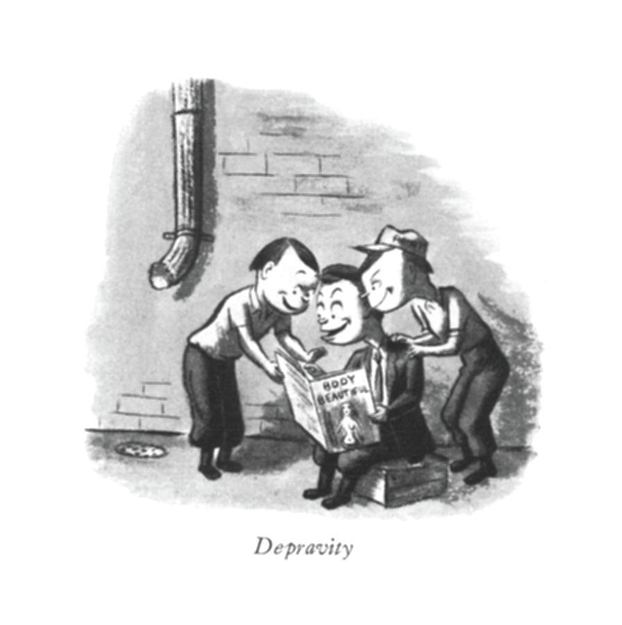 Depravity Drawing by William Steig