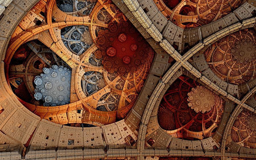 Fractal Digital Art - Depth And Color by Ricky Jarnagin