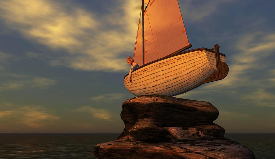 Boat Digital Art - Depth Perception by Whiskey Monday