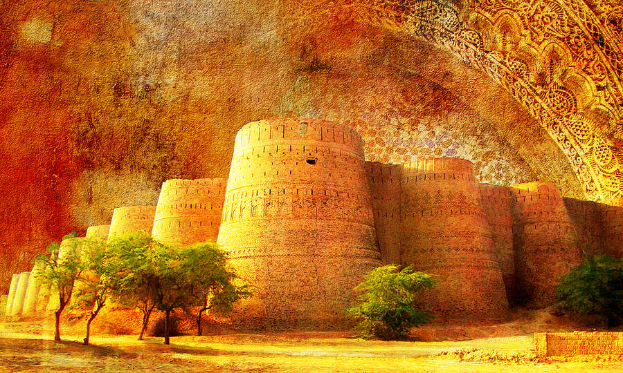 Pakistan Painting - Derawar Fort by Catf