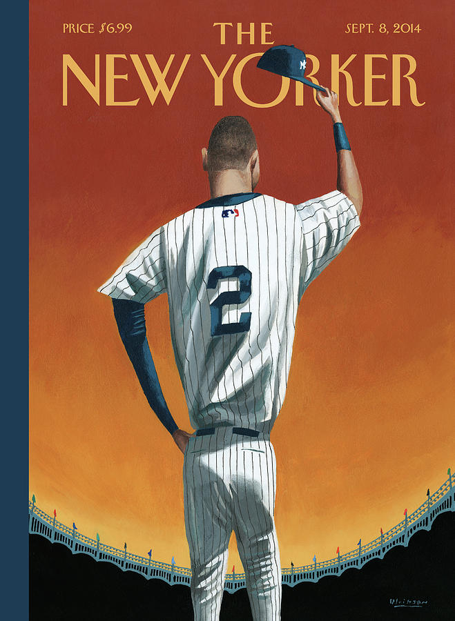 Derek Jeter Bows Out Painting by Mark Ulriksen