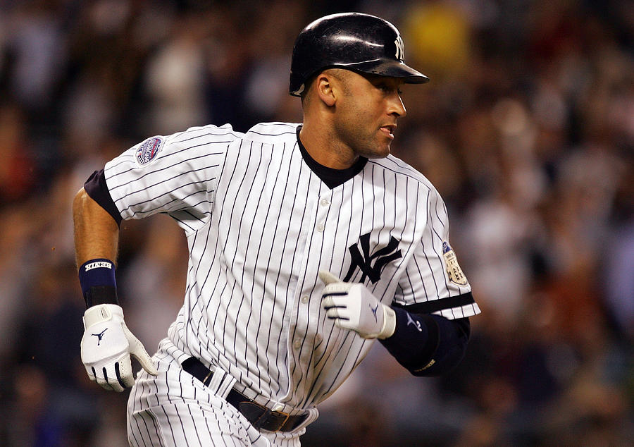 Vintage Photograph - Derek Jeter New York Yankees by Retro Images Archive