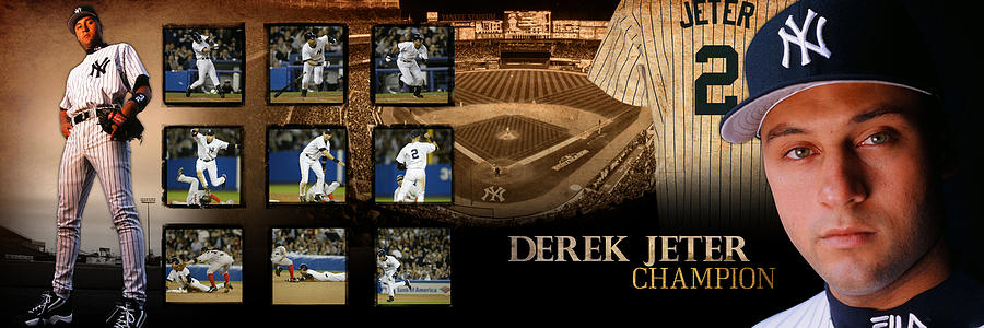Derek Jeter Panoramic Art by Retro Images Archive