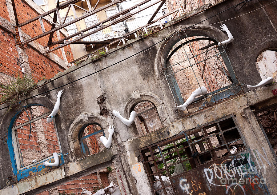 Turkish Photograph - Derelict Wall Of Lost Limbs 01 by Rick Piper Photography