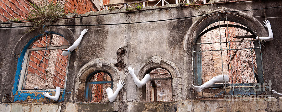 Turkish Photograph - Derelict Wall Of Lost Limbs 02 by Rick Piper Photography