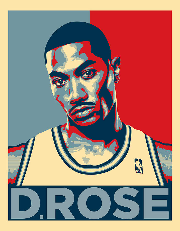 Derrick Rose Digital Art - Derrick Rose by Taylan Apukovska
