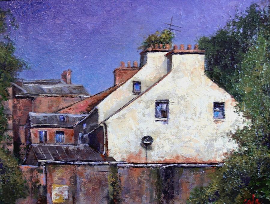 Irish Painting - Derry Gables by Jim Gola