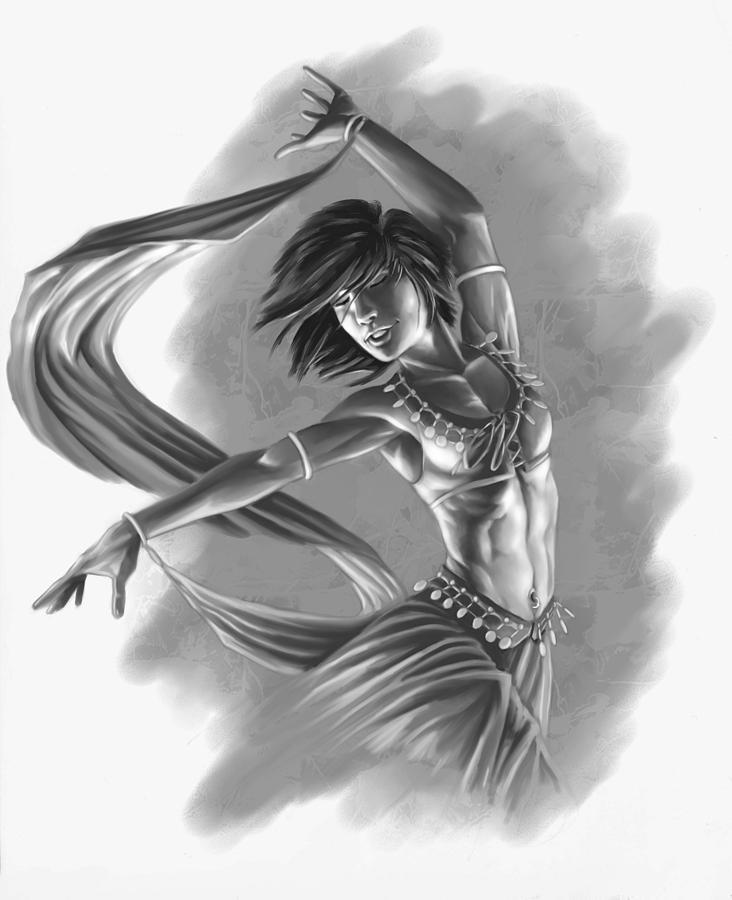 Dancer Digital Art - Dervish by Bryan Syme