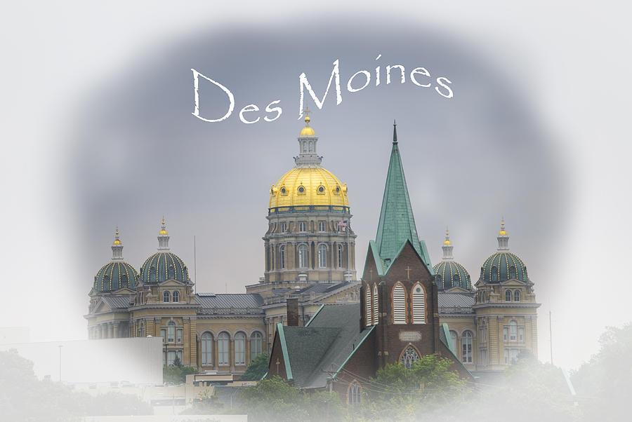 Des Moines Capitol Photograph