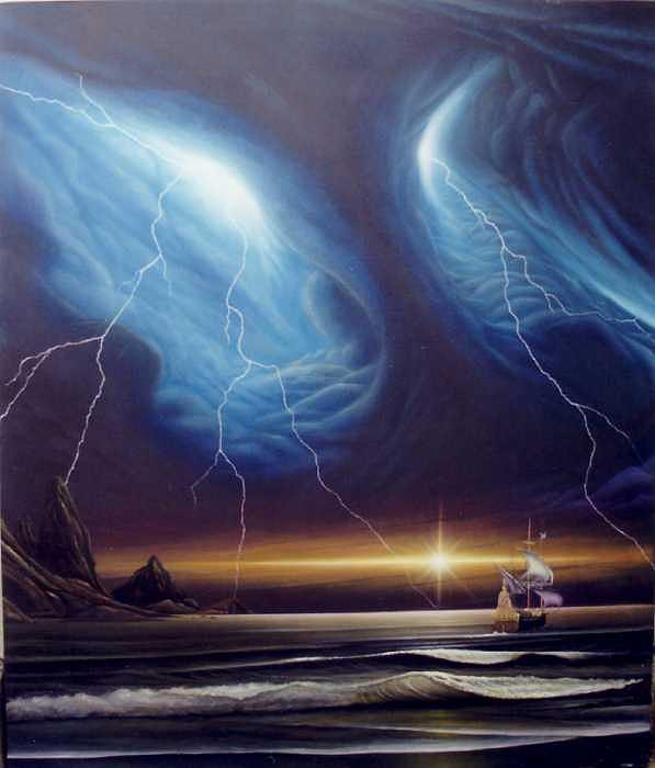 Surrealism Painting - Desafio by Angel Ortiz