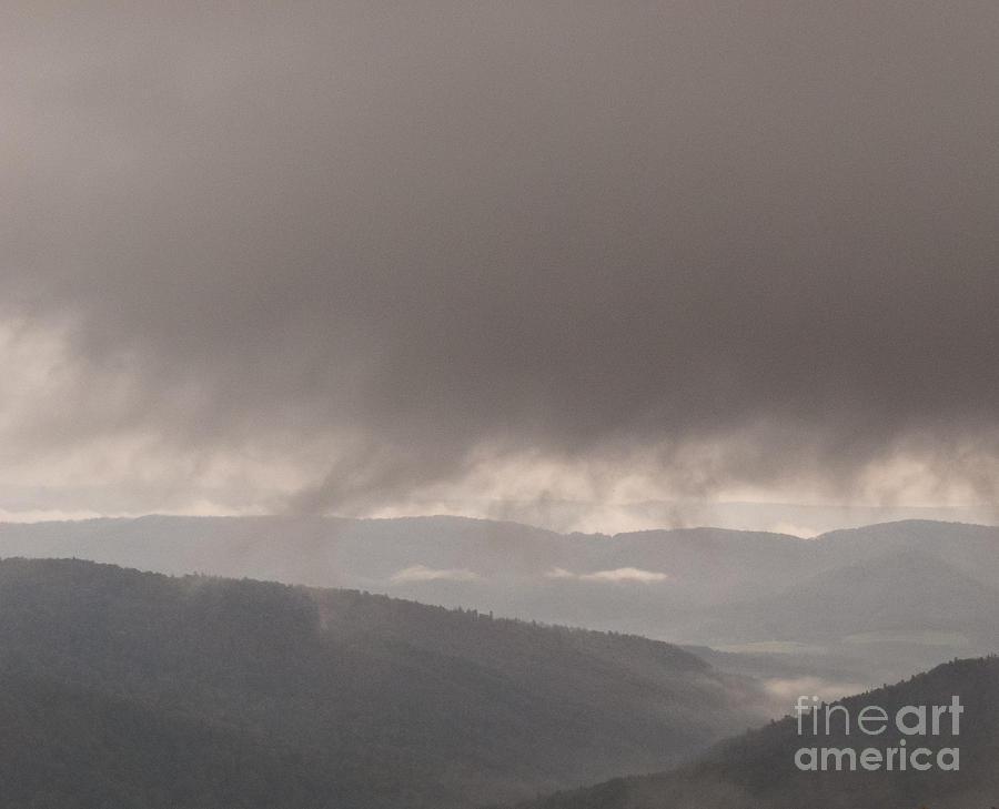 Dark Cloud Photograph - Descending cloud by Agata Wisniowska